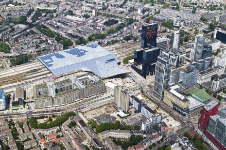 Rotterdam Central Station, aerial