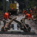 Network Rail, work on rail track