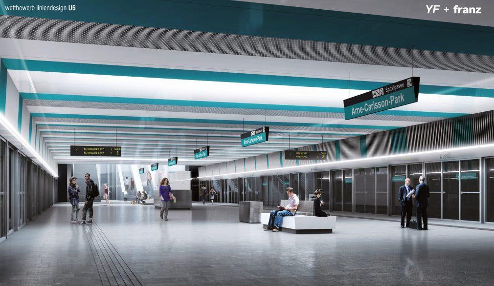 The design of the U5 metro line of the Wiener Linien, source: Wiener Linien