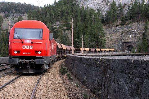 An OBB freight train