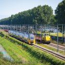 Treinen op baanvak Amsterdam Utrecht NS