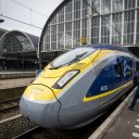 Eurostar high speed train Amsterdam Central station