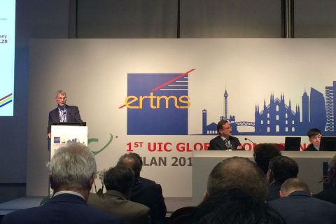 Peter Zijdemans of Ricardo Rail during the ERTMS conference in Milan