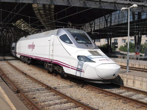 High speed Renfe at Barcelona