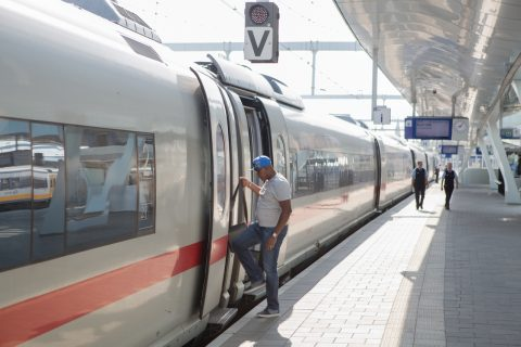 ICE high-speed train at Arnhem station