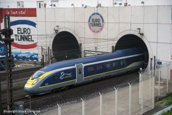 TGV Eurostar Velaro E320 coming out of Channel Tunnel