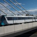 Sydney Metro train testing Windsor Rd bridge