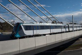 Sydney Metro train testing Windsor Rd bridge