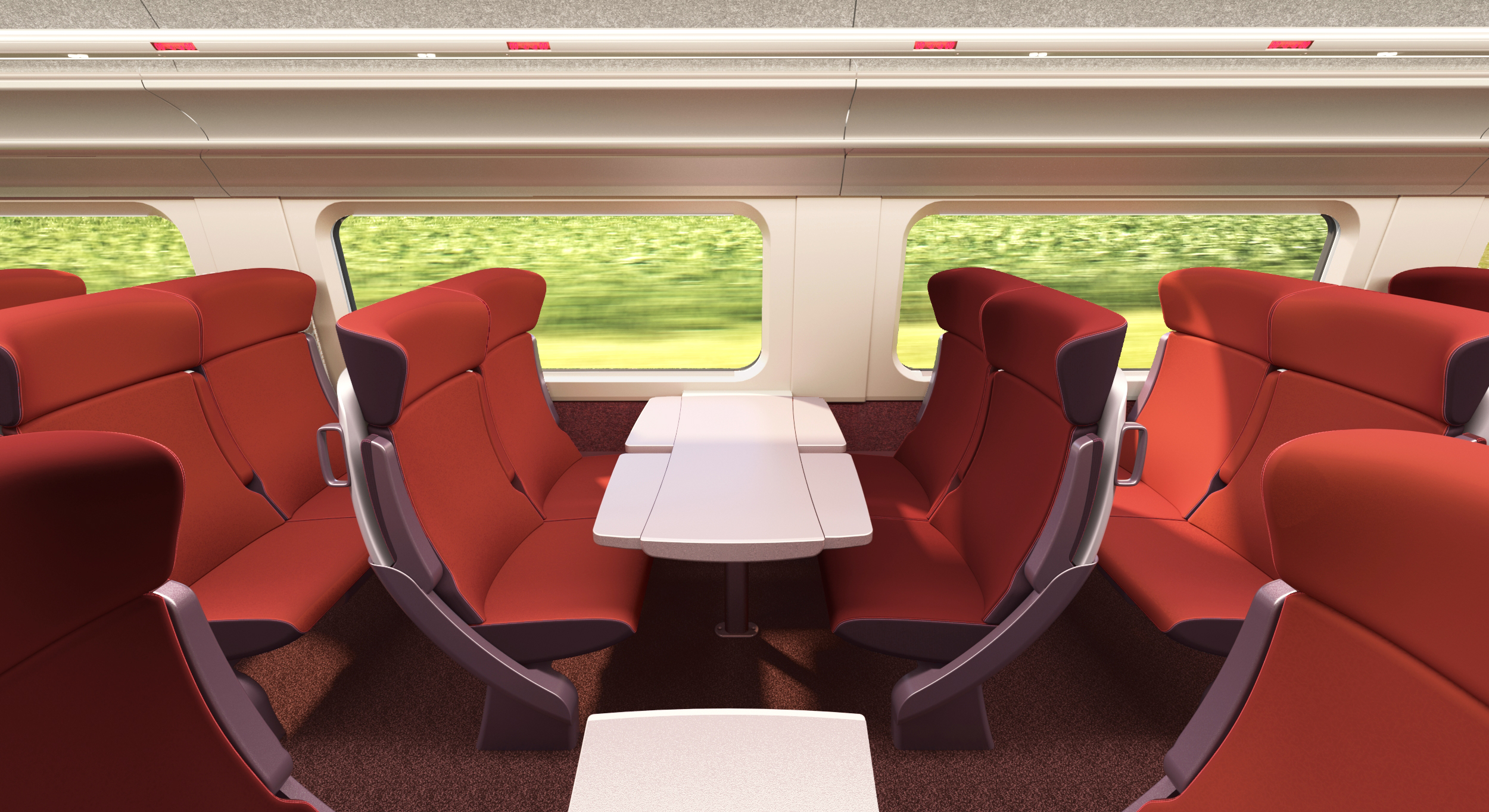 Interior of Thalys high-speed trains completely restyled   RailTech.com