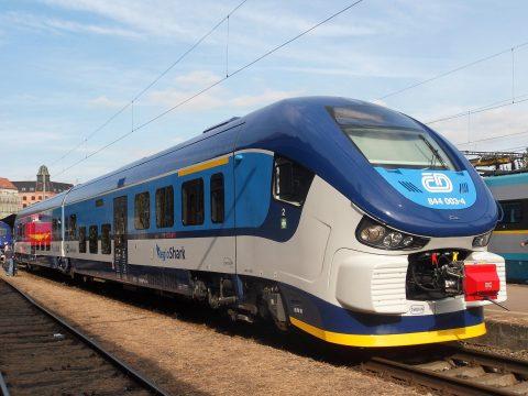 České Dráhy train in Czech Republic