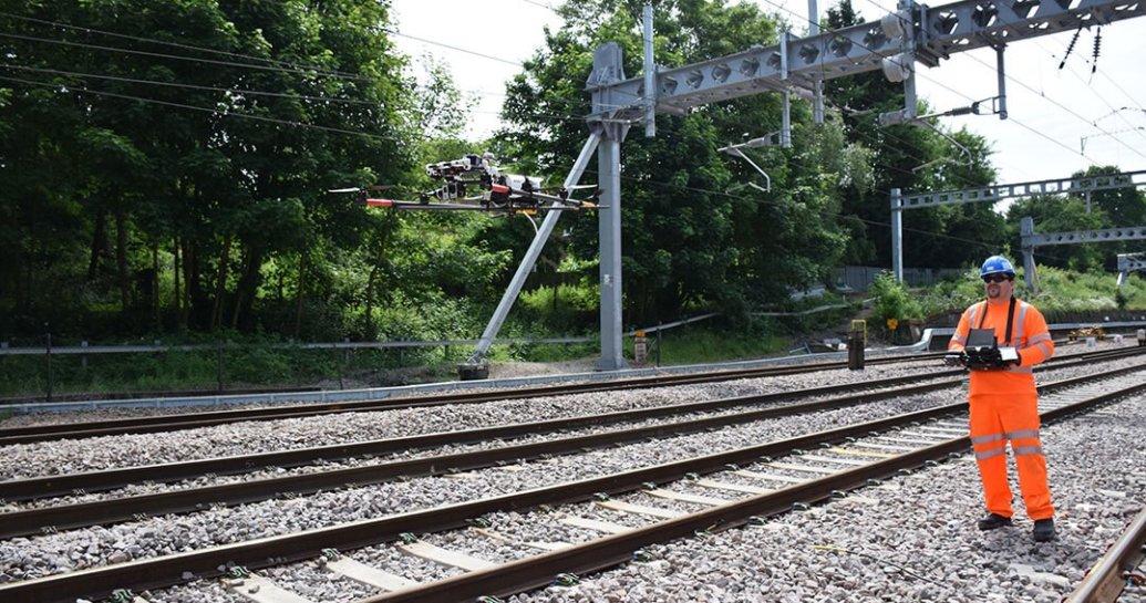 Network Rail uses drone to survey railway | RailTech com