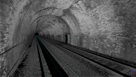 Tunnel Network Rail Scotland scanned