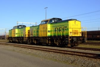 Test on Betuweroute with locomotive from Rotterdam Rail Feeding