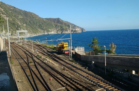 Railway at Corniglia, Italy