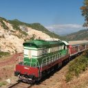 Albanian train near Pogradec, source: Wikipedia