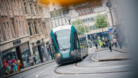 Citadis tram in Nottingham UK, source: Alstom