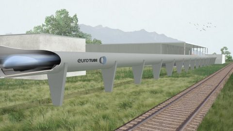 Hyperloop project of EuroTube, source: EuroTube