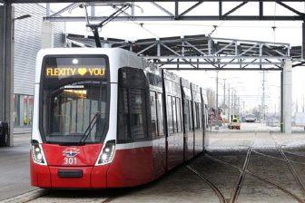 Flexity tram in Vienna, source: City of Vienna