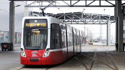 Flexity tram in Vienna, source: City of Vienna