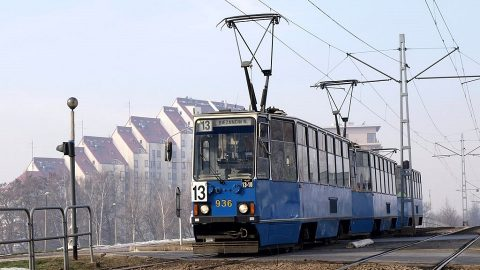 Konstal 105Na tram in Krakow, source: Wikipedia