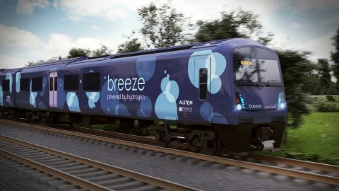 Breeze hydrogen train, source: Alstom