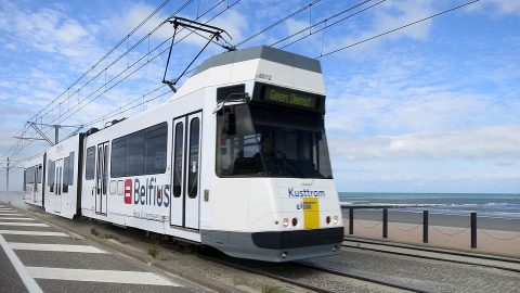 Coast tram in Belgium, source: Wikipedia