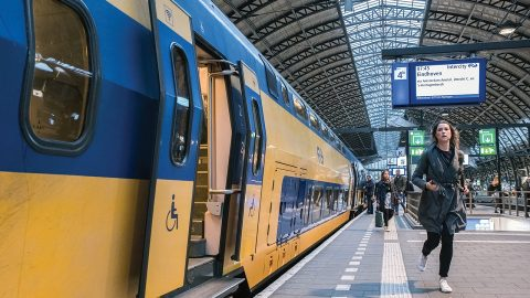 Train at Amsterdam station, source: ProRail