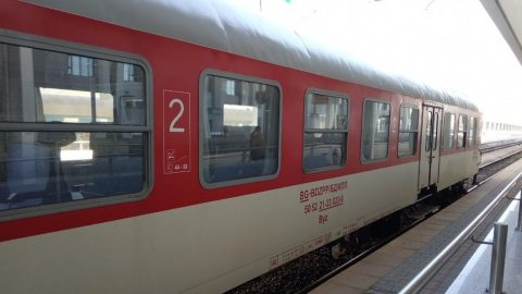 Bulgarian passenger car, source: Bulgarian State Railways (BDŽ)