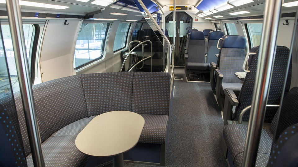 Business class of IC2000 refurbished coaches, source: SBB