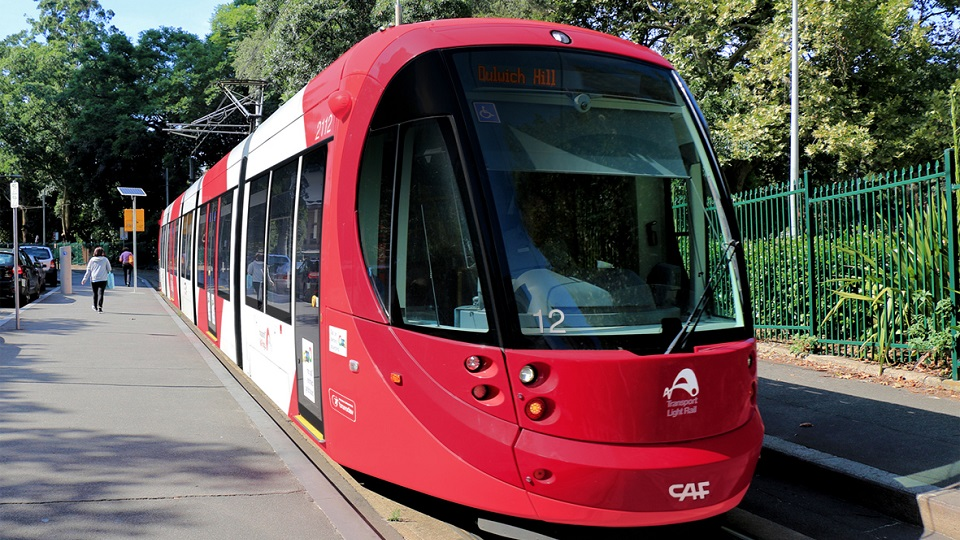 CAF Urbos 100 tram in Sydney, source: CAF