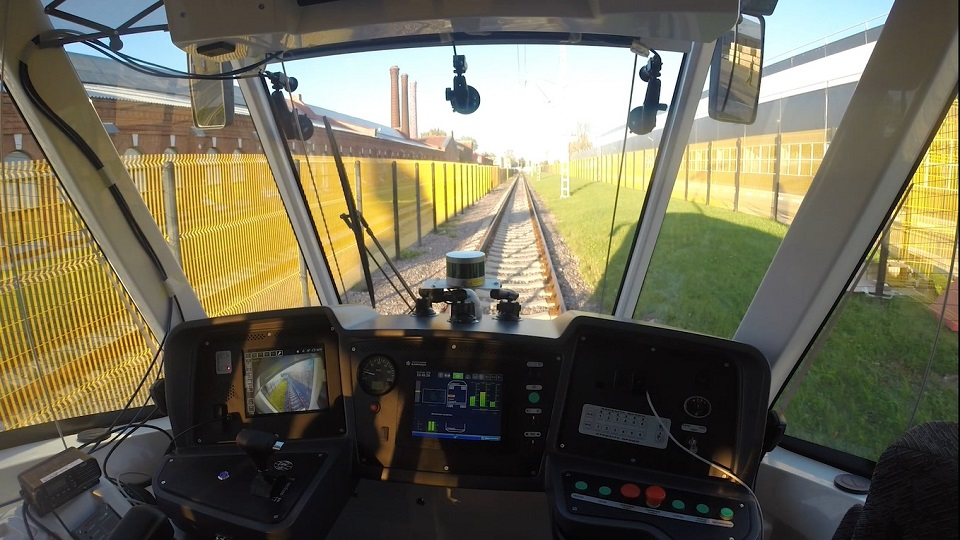 Cabin view of the Vityaz self-driving tram, source: Cognitive Technologies