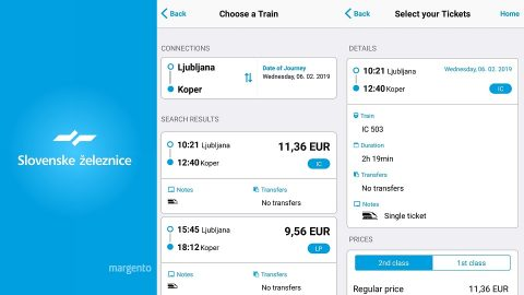 Slovenske zeleznice mobile application, source: Mykola Zasiadko