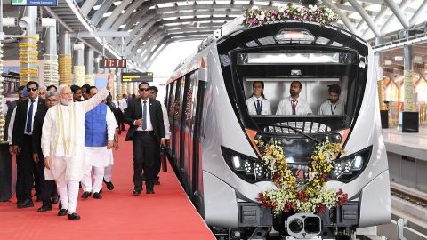 Ahmedabad Metro inauguration, source: Prime Minister of India