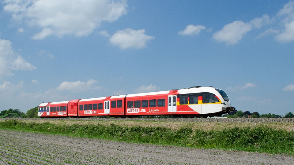 Arriva train on Wiederline, source: ProRail
