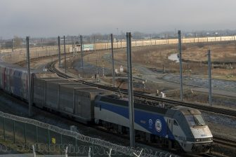 Eurotunnel shuttle train, source: Bombardier Transportation