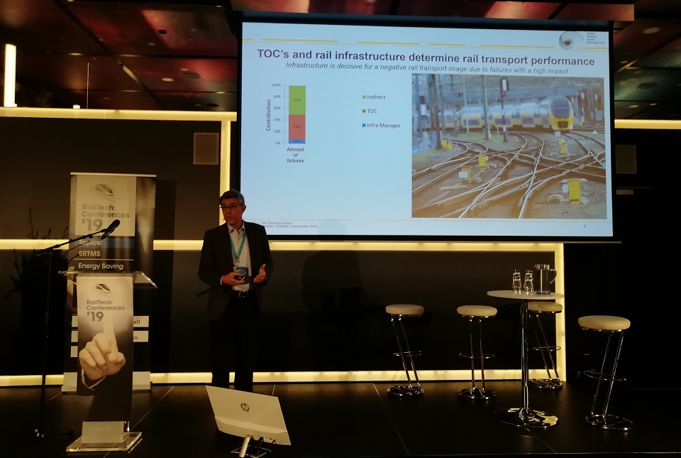 Jan Swier speaks at RailTech Conference, source: RailTech