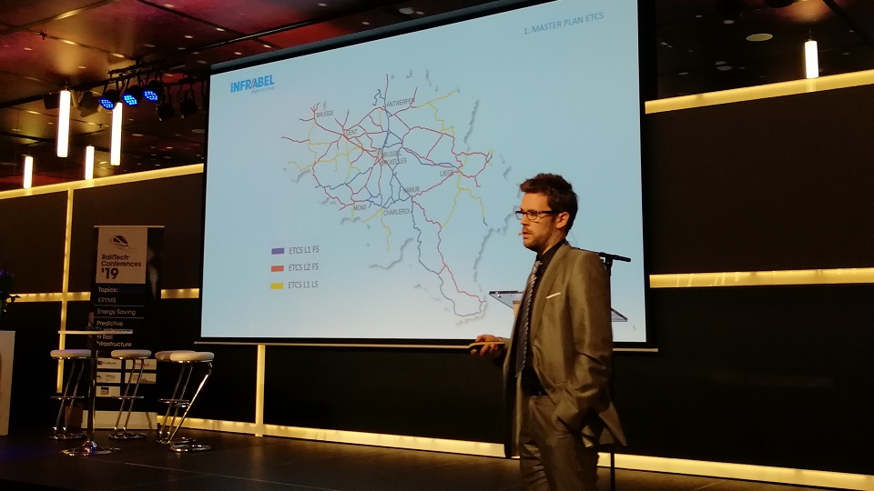 Jeremy Debast at RailTech Europe Conference, source: RailTech
