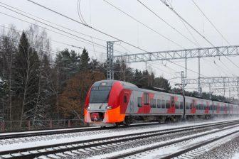Lastochka train in Moscow region, source: Russian Railways (RZD)
