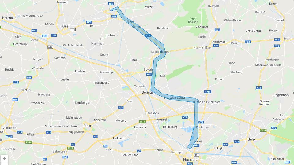 Mol-Hasselt railway, source: Infrabel