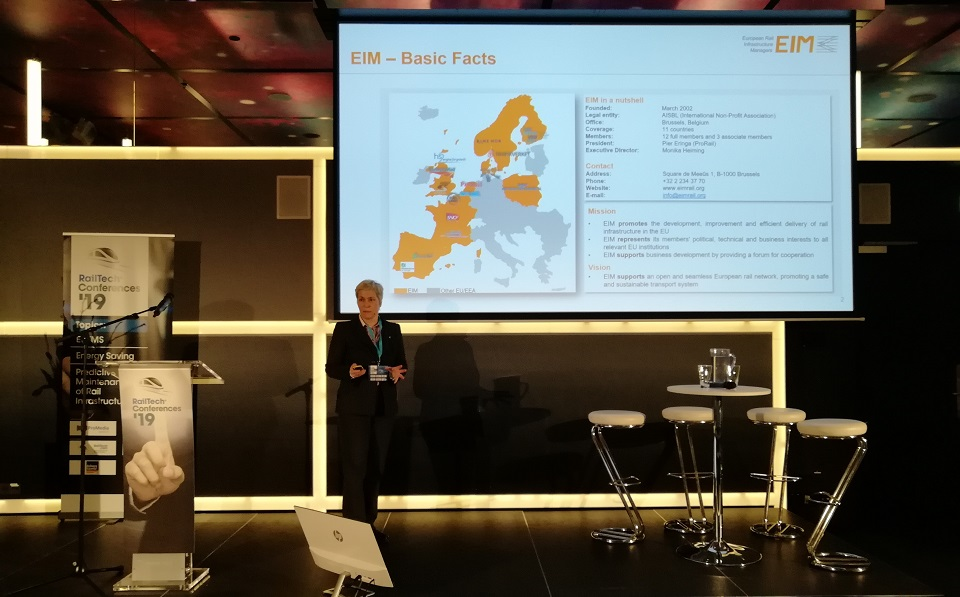 Monika Heiming speaks at RailTech Conference, source: RailTech