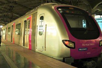 Mumbai Metro train, source: Wikipedia