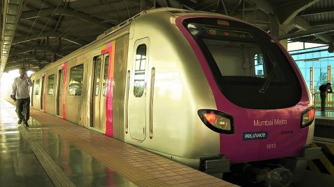 Mumbai Metro train, source: Wikipedia