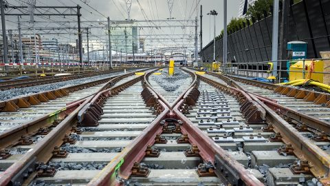 New railway tracks near Utrecht Centraal station, source: ProRail