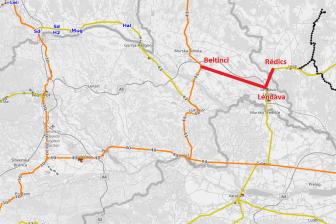 Proposed Beltinci-Lendava-Redics railway, source: OpenRailwayMap