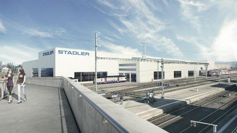Stadler future plant in St Margrethen, source: Stadler Rail