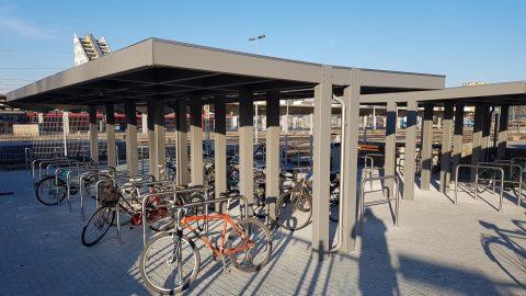 Bicycle parking at Ljubljana train station, source: Slovenske železnice