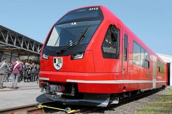Capricorn train roll-out in Altenrhein, source: Rhaetian Railway (RhB)