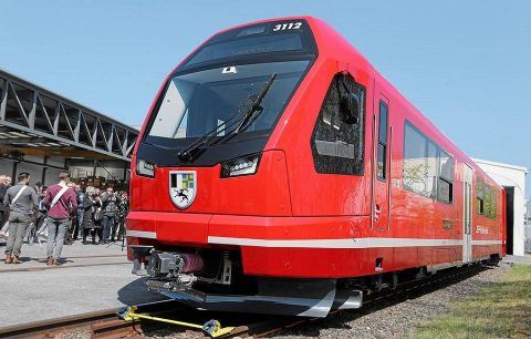 Capricorn train roll-out in Altenrhein, source: Rhaetian Railway (RhB)
