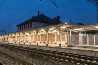 LED lights at Miedzyzdroje train station, source: PKP PLK