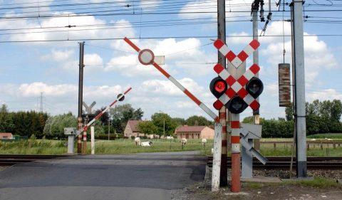 Level crossing in Belgium, source: Infrabel